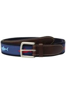 Vineyard Vines Patriot Shark Canvas Club Belt