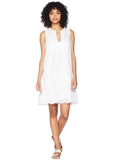 Vineyard Vines Pintuck Eyelet Sleeveless Cover-Up Dress