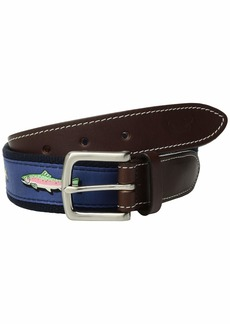 Vineyard Vines Placed Trout Canvas Club Belt