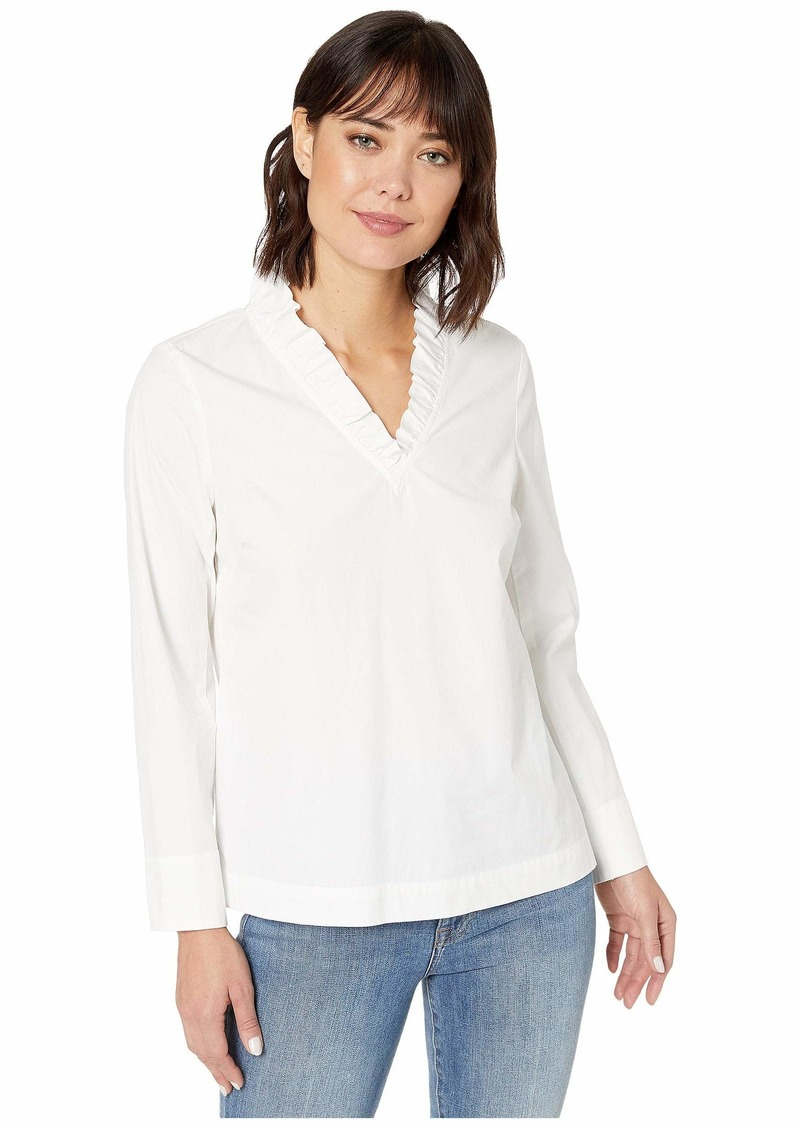 Vineyard Vines Ruffle Neck Top