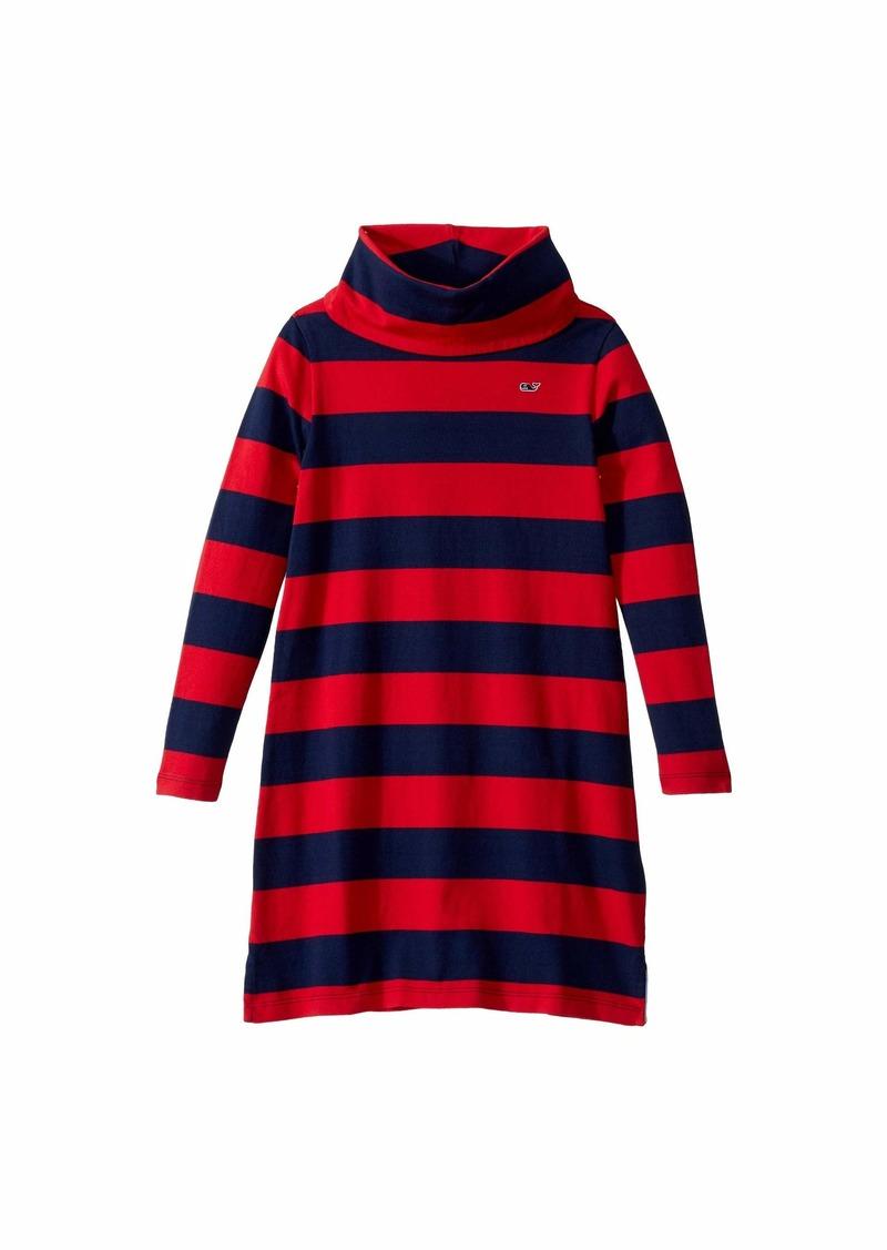 Vineyard Vines Rugby Stripe Cowl Neck Dress (Toddler/Little Kids/Big Kids)