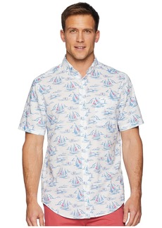 Vineyard Vines Sailing Scene Short Sleeve Classic Murray Shirt