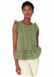 Vineyard Vines Sea Spray Eyelet Peplum Top