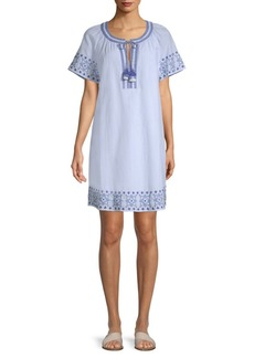 Vineyard Vines Sea Spray Stripe Tassel Cotton Dress