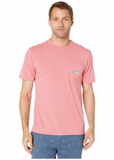 Vineyard Vines Short Sleeve Heather US Surf Logo Pocket Tee