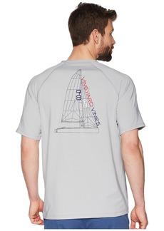 Vineyard Vines Short Sleeve Perf Raglan Blueprint Sail Tee