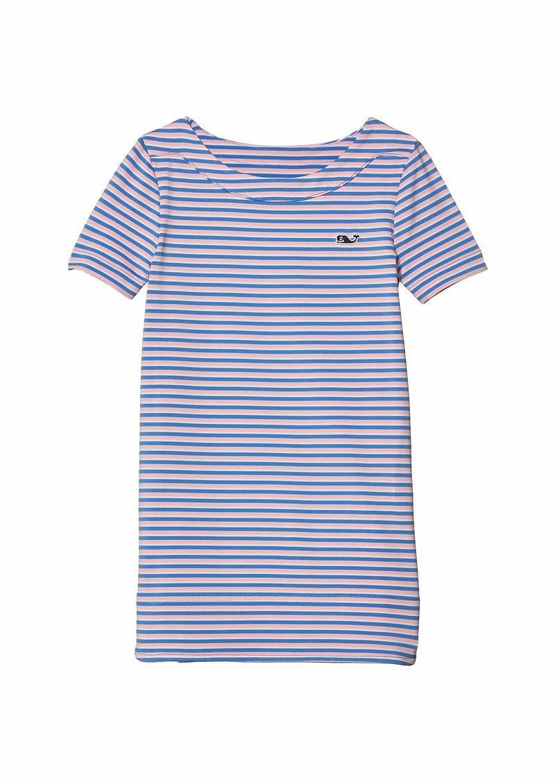 Vineyard Vines Short Sleeve Stripe Sankaty Dress (Toddler/Little Kids/Big Kids)