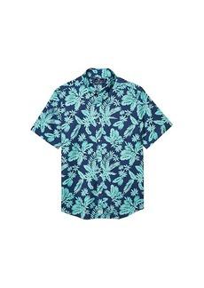 Vineyard Vines Slim Fit Tropical Leaves Murray Short-Sleeve Button-Down Shirt