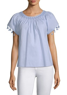 Vineyard Vines Smocked Tassel Tee