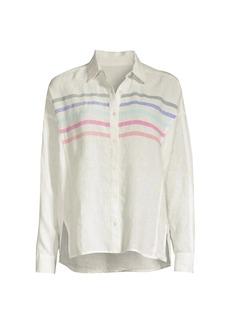 Vineyard Vines St Barths Rainbow Linen Shirt