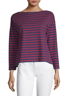 Vineyard Vines Stripe Boatneck Cotton Top