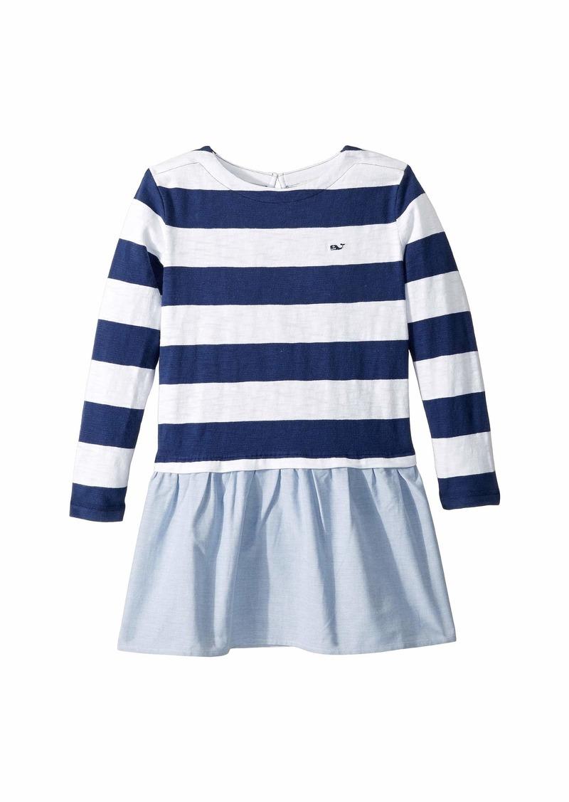 f132b9d54 Stripe Oxford Sweatshirt Dress (Toddler/Little Kids/Big Kids). Vineyard  Vines