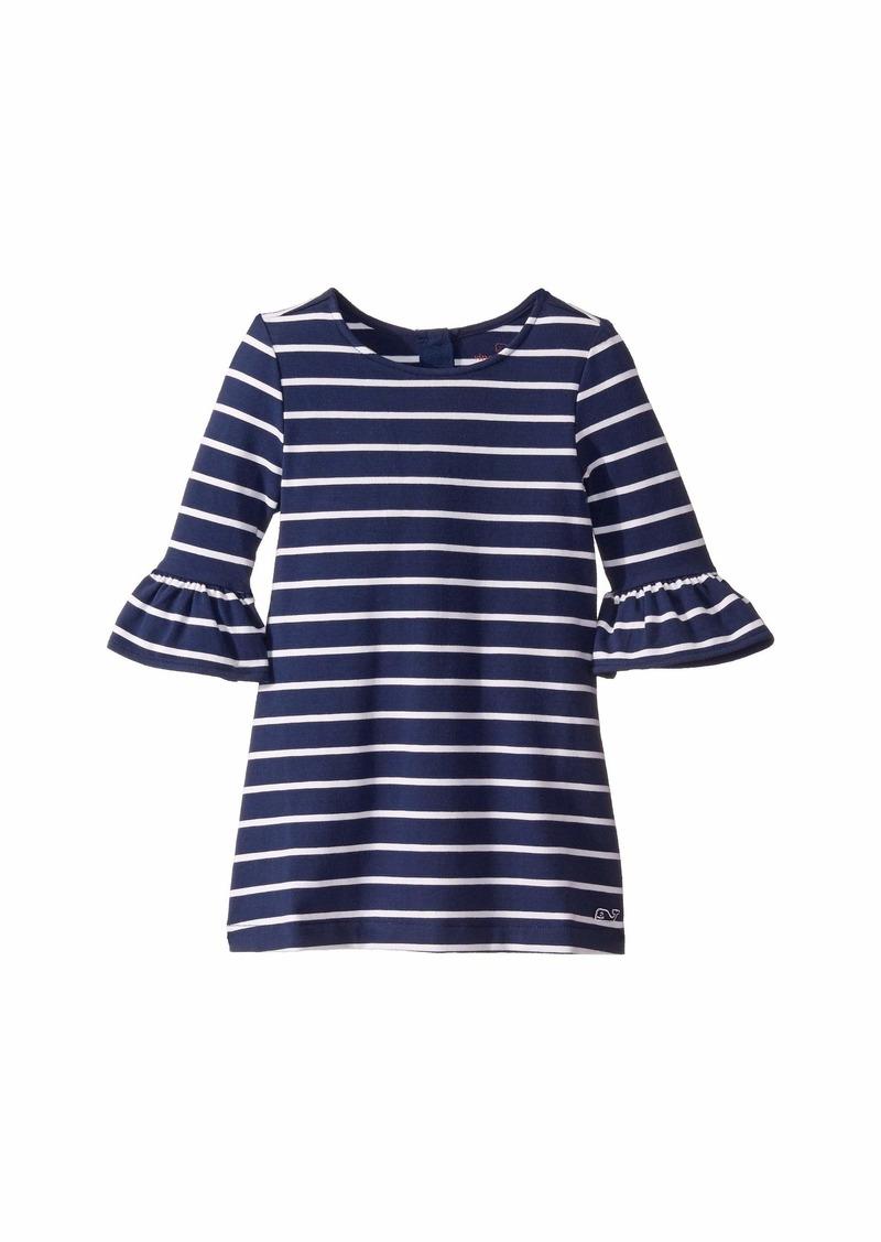 Vineyard Vines Stripe Ruffle Sleeve Dress (Toddler/Little Kids/Big Kids)