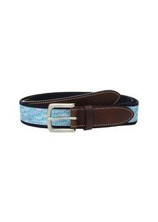 Vineyard Vines Striped Bass Canvas Club Belt