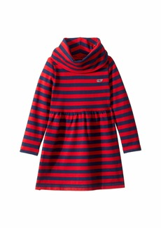 Vineyard Vines Striped Cowl Neck Dress (Toddler/Little Kids/Big Kids)