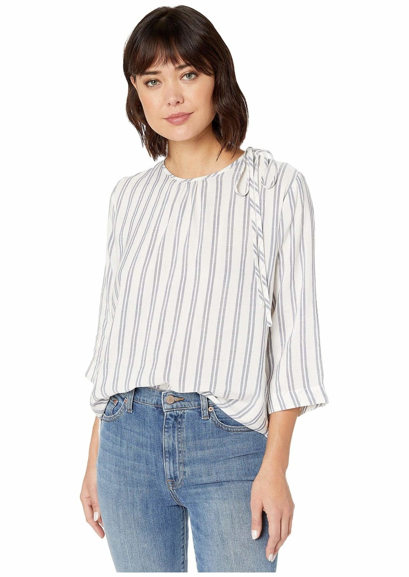 Vineyard Vines Striped Flowy Tie Shoulder Top