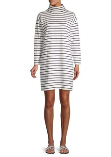 Vineyard Vines Striped Funnelneck Cotton Dress