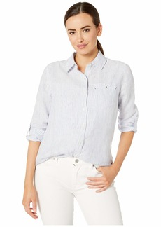 Vineyard Vines Striped Linen Chilmark Relaxed Button Down