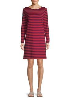 Vineyard Vines Striped Long-Sleeve Tee Dress