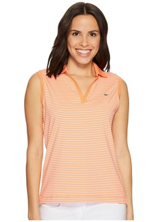 Vineyard Vines Striped Sleeveless Performance Polo
