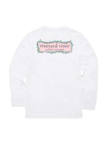 Vineyard Vines Toddler's, Little Girl's & Girl's Christmas Logo Box Lights Sweater