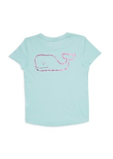 Vineyard Vines Toddler's, Little Girl's & Girl's Foil Whale T-Shirt