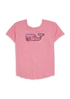 Vineyard Vines Toddler's, Little Girl's & Girl's Short Sleeve Slub Flamingo & Whale T-Shirt