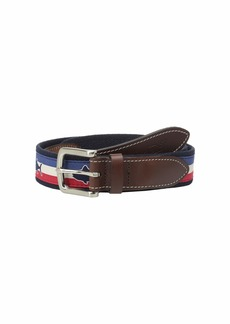 Vineyard Vines Tuna Flag Stripe Canvas Club Belt