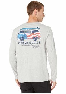 Vineyard Vines USA Bus & Board Long-Sleeve Pocket T-Shirt