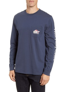vineyard vines 2019 Santa Whale Long-Sleeve Pocket T-Shirt