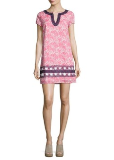 Vineyard Vines Allover Printed Embroidered Dress