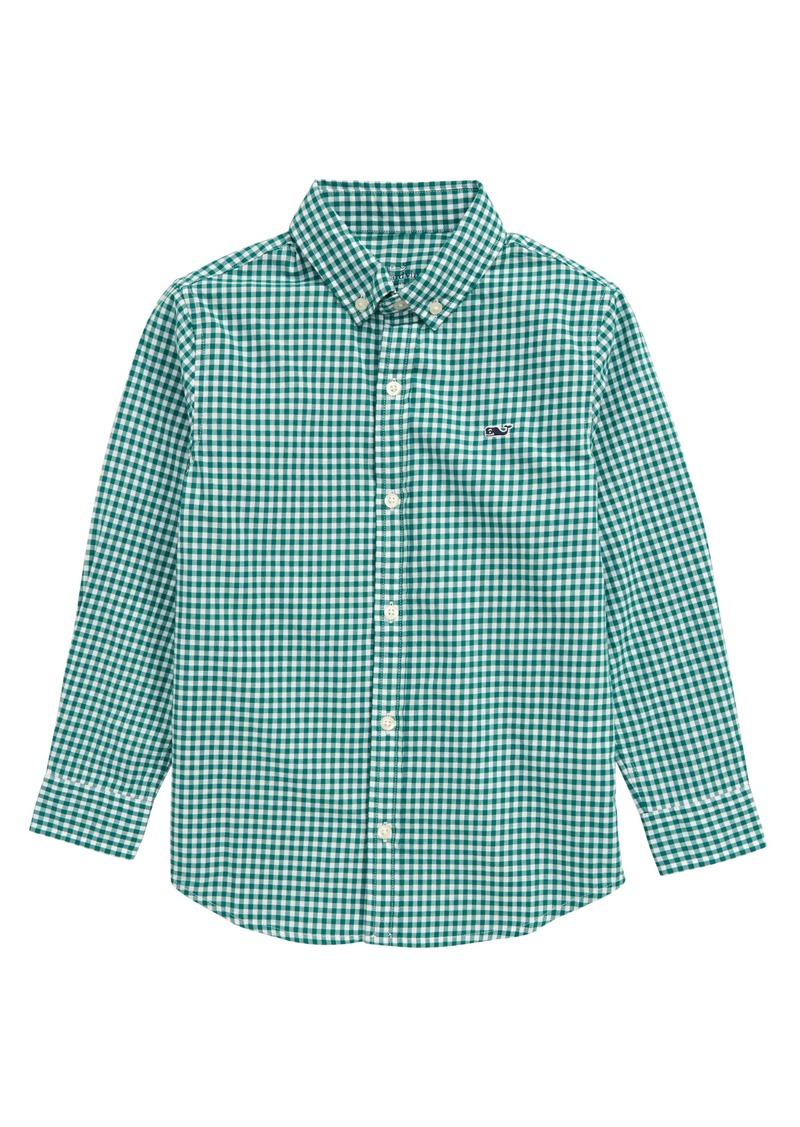 vineyard vines Arawak Gingham Button-Up Whale Shirt (Toddler Boys & Little Boys)