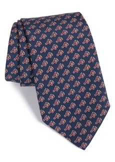 vineyard vines Atlanta Braves - MLB Print Silk Tie