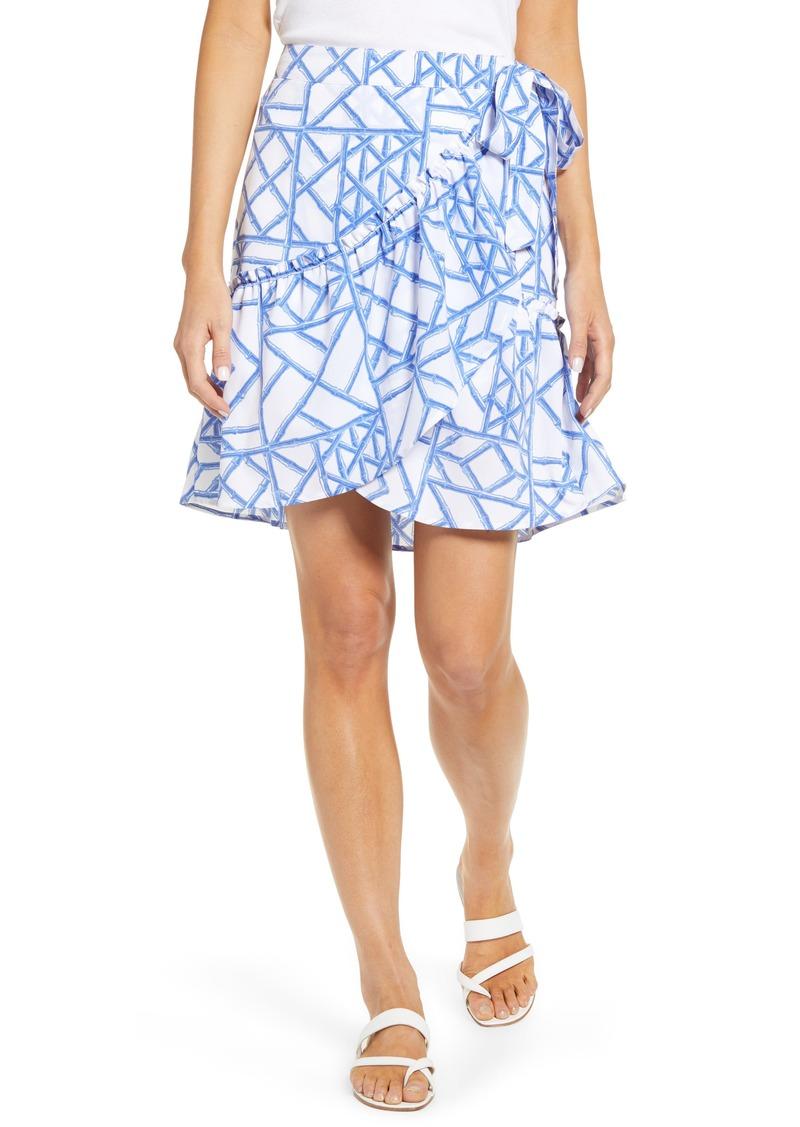 vineyard vines Bamboo Lattice Print Wrap Skirt