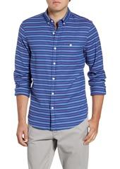 vineyard vines Beach Flannel Slim Fit Stripe Button-Down Sport Shirt