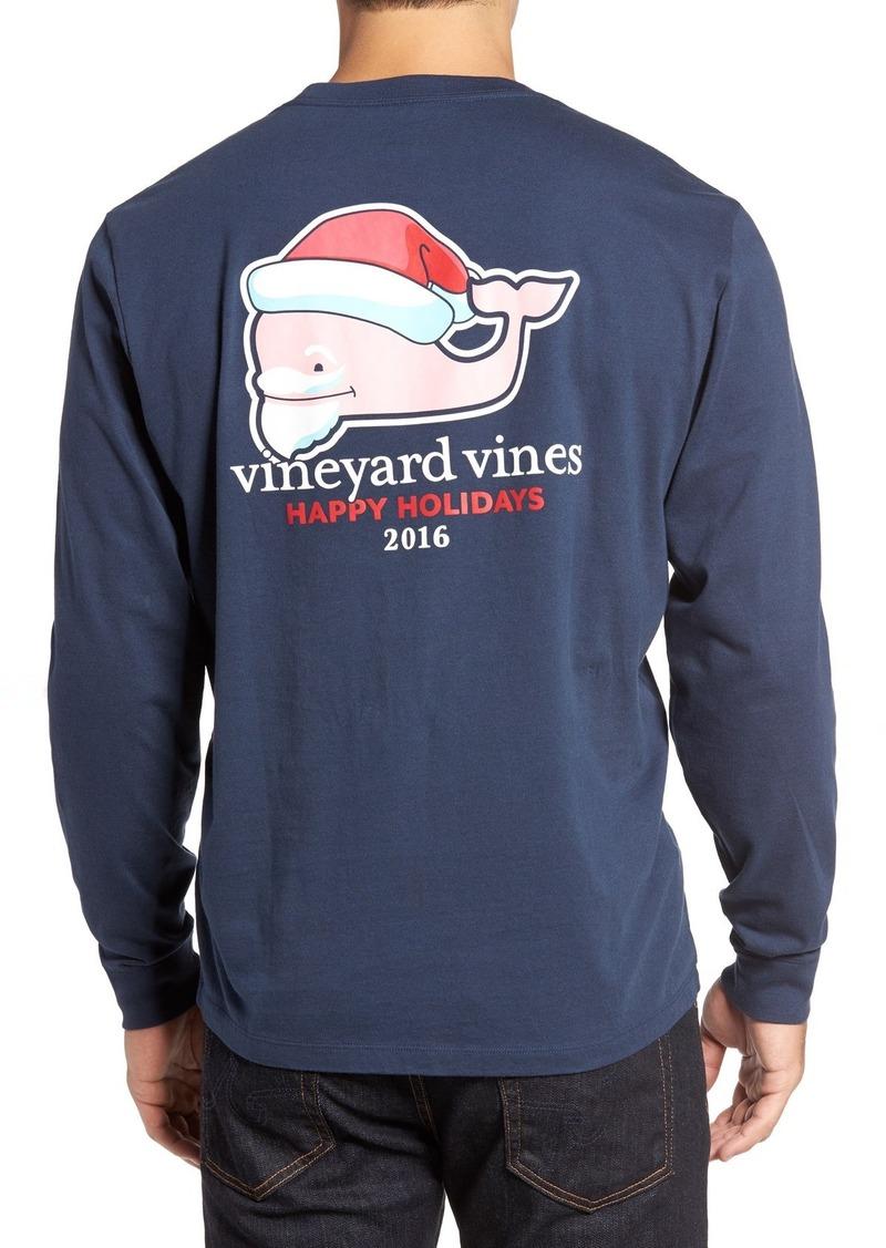 Vineyard Vines Bearded Santa Whale Graphic T-Shirt
