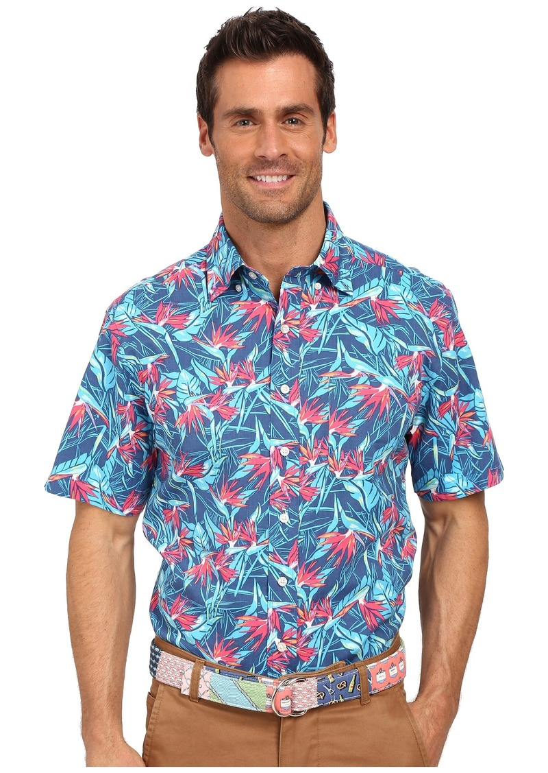 Vineyard Vines Birds of Paradise Short Sleeve Murray Shirt
