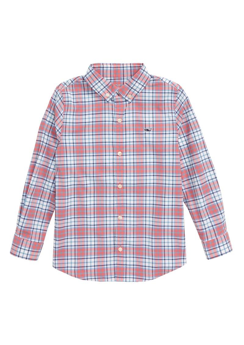 vineyard vines Bluehead Performance Whale Button-Up Shirt (Toddler Boys & Little Boys)