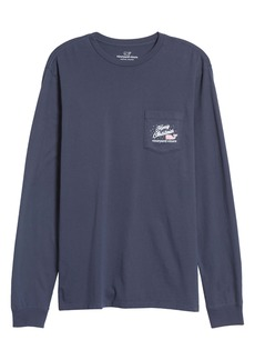 vineyard vines Boat Tree Long Sleeve Pocket Graphic Tee