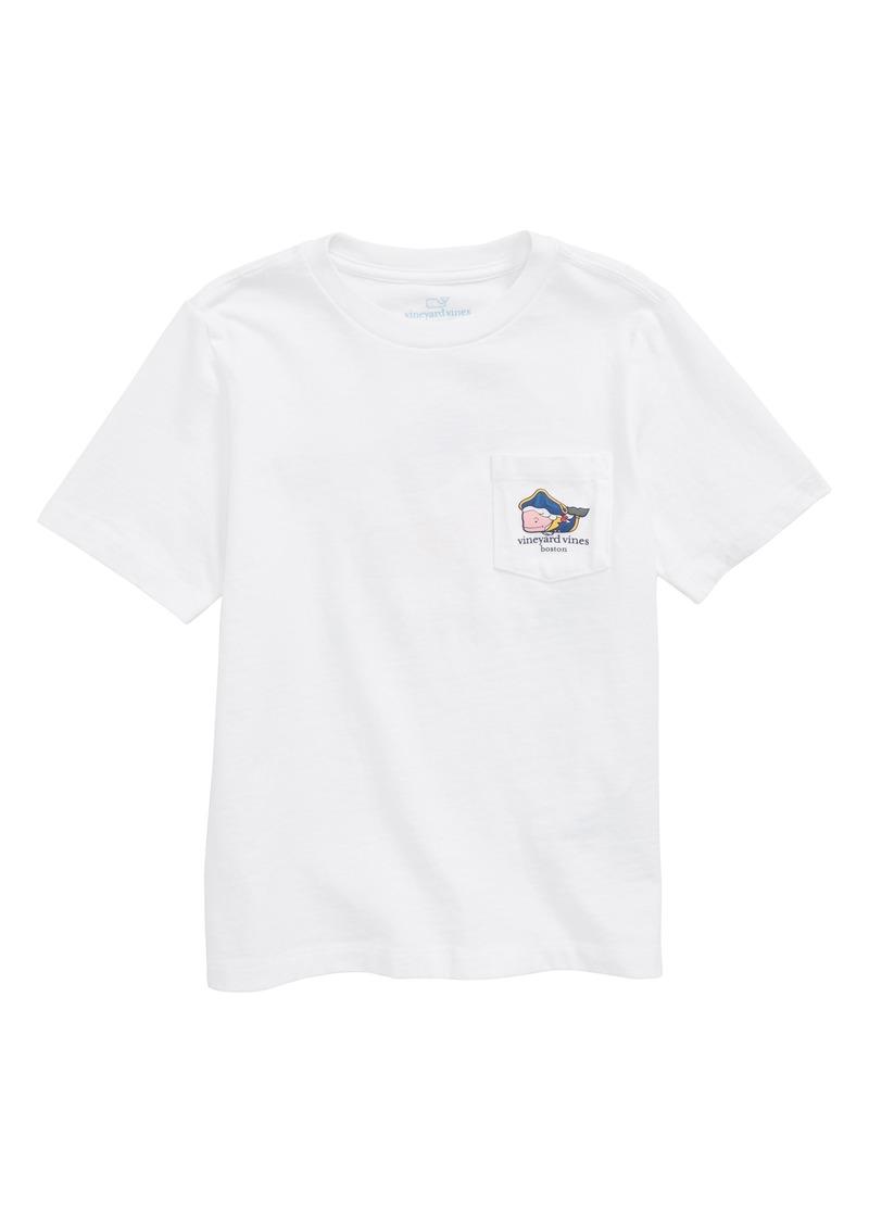 vineyard vines Boston Whale Pocket T-Shirt (Toddler Boys, Little Boys & Big Boys)