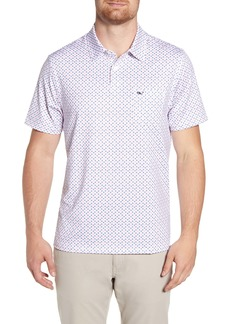 vineyard vines Bowline Regular Fit Palm Print Polo