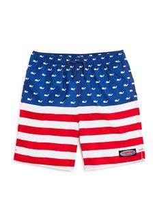Vineyard Vines Boys' American Flag Chappy Swim Trunks - Little Kid, Big Kid