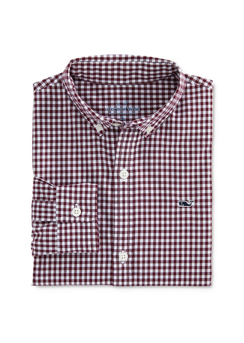 Vineyard Vines Boys' Arawak Gingham Button-Down Shirt - Little Kid, Big Kid