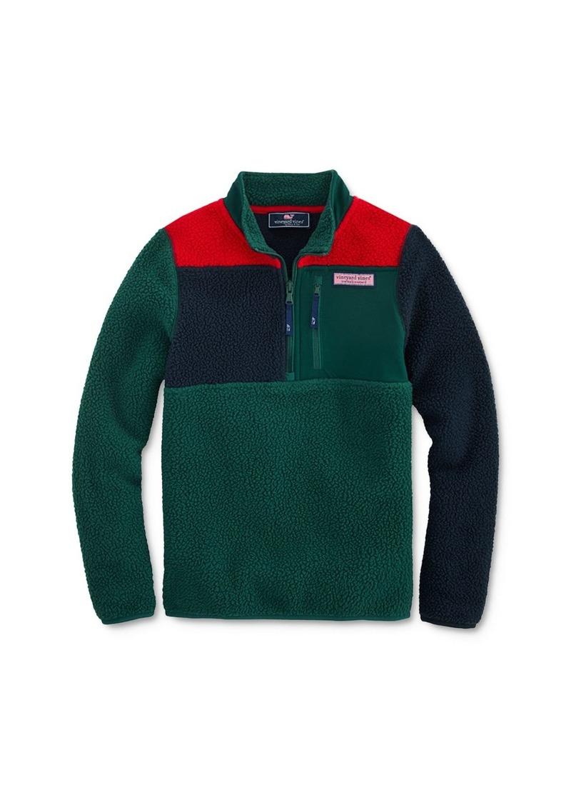 Vineyard Vines Boys' Color-Block Sherpa Sweatshirt - Little Kid, Big Kid