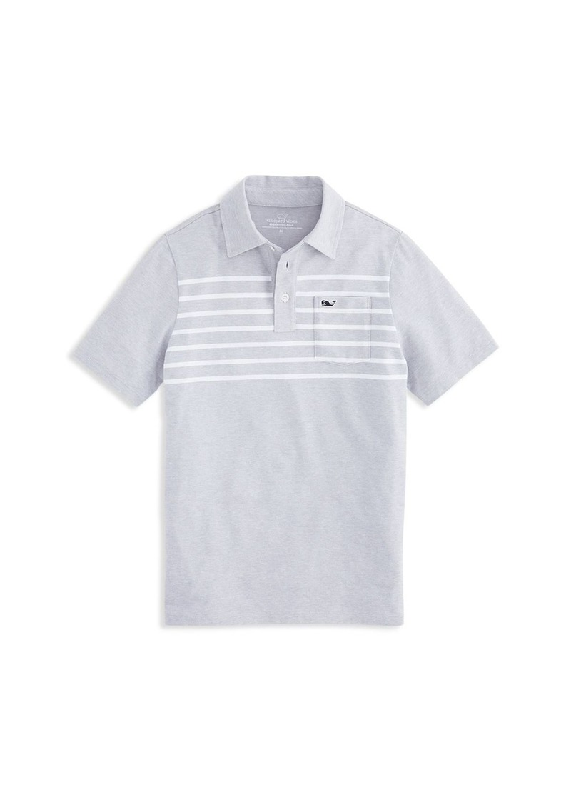 Vineyard Vines Boys' Edgartown Striped Polo - Little Kid, Big Kid