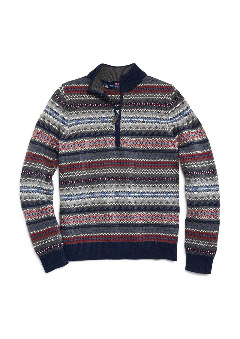 Vineyard Vines Boys' Fair Isle Sweater - Little Kid, Big Kid