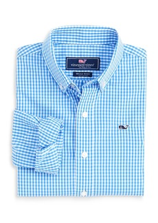 Vineyard Vines Boys' Gingham Button-Down Shirt - Little Kid, Big Kid