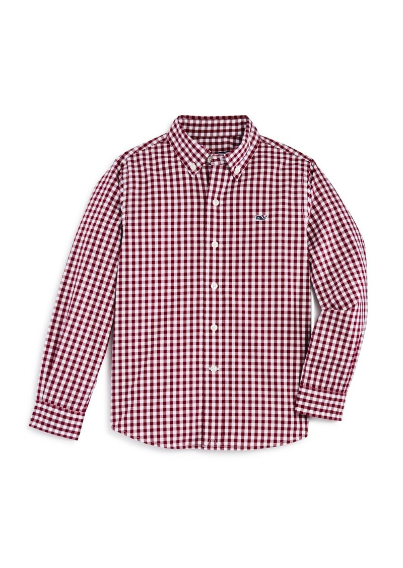 6d9156703c3 Vineyard Vines Vineyard Vines Boys' Gingham Whale Shirt - Little Kid ...