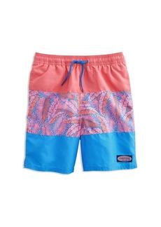 2a1093bd5e3c5 Vineyard Vines Boys' Island Palm Pieced Chappy Swim Shorts - Little Kid, ...