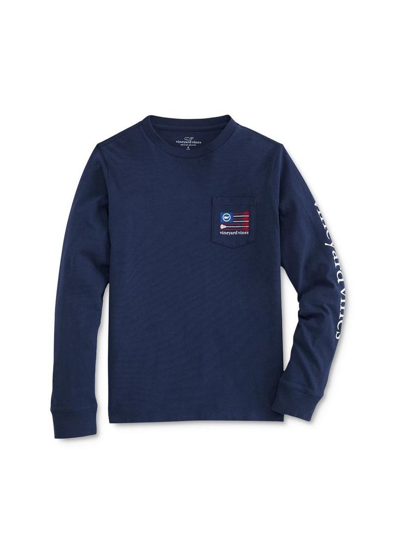 Vineyard Vines Boys' Lacrosse Flag Pocket T-Shirt - Little Kid, Big Kid